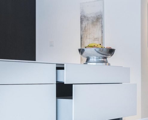keuken, keukenlade, design, strak, modern, fruit, wit, warmhoudlade