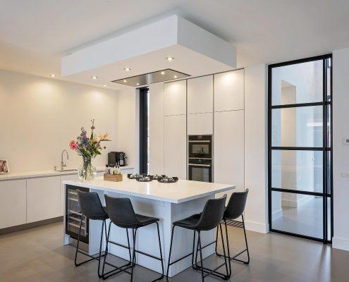 Keukenblok, keuken, design, strak, wit, modern,