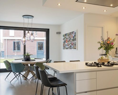 woning, huis, inrichting, keuken, design, lampen, plant, kitchen, leefbaarheid
